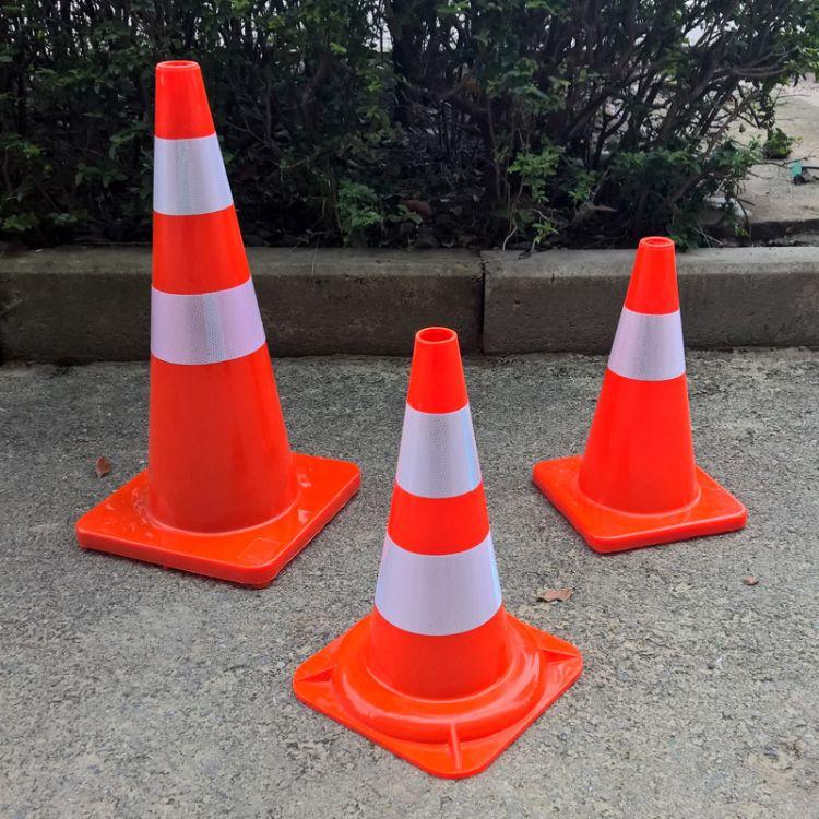 PVC橡胶路锥 50 70cm路锥 路障 道路锥形筒 道路隔离锥厂家直销