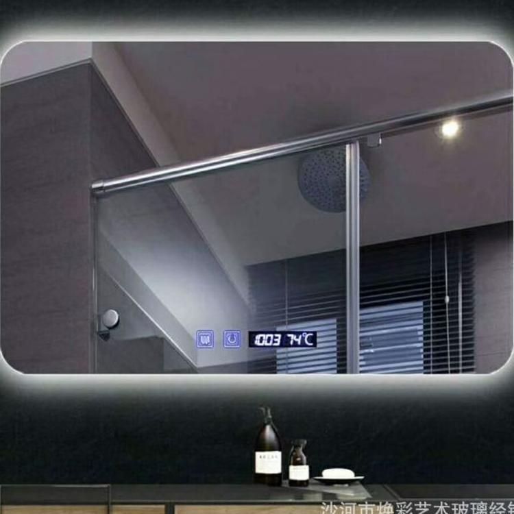 镜子定做卫生间洗手间浴室镜led壁挂酒店触摸开关发光化妆智能