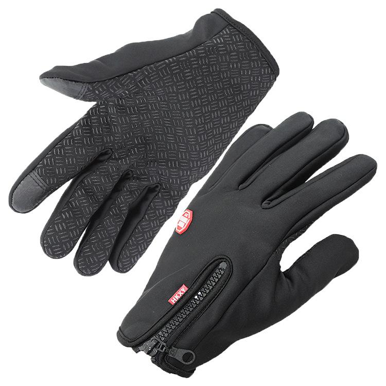 运动型抓绒手套 户外保暖触屏防水防风防滑冬季 滑雪 触摸控屏