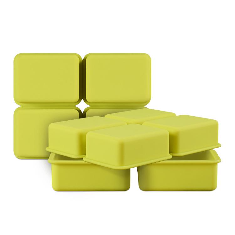 硅胶手工皂模 四孔长方形肥皂模 硅胶冷制皂模蛋糕模 diy烘焙工具