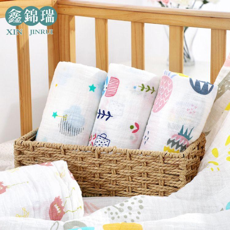 厂家直销薄款新生儿muslin包被纱布ins宝宝毛巾被儿童浴巾