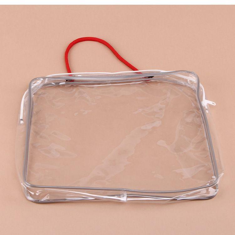 新款热卖 pvc透明包装袋 服装拉链包装袋 pvc包装袋带拉链 平口