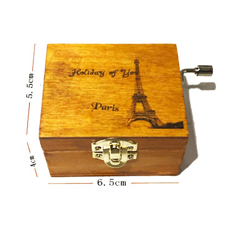 音乐盒 木质手摇音乐盒 圣诞礼品迷你八音盒工艺品