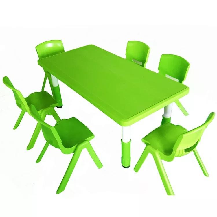 幼儿园专用课桌 可升降调节儿童学习塑料桌椅 批发幼儿园专用课桌