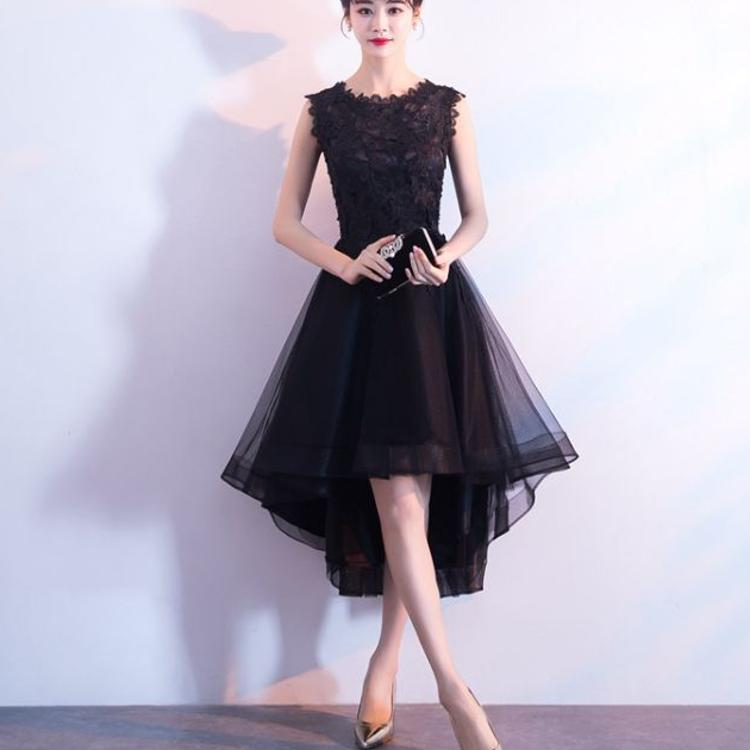 2018新款晚礼服秋季黑色修身高贵优雅显瘦派对宴会小礼服连衣裙女