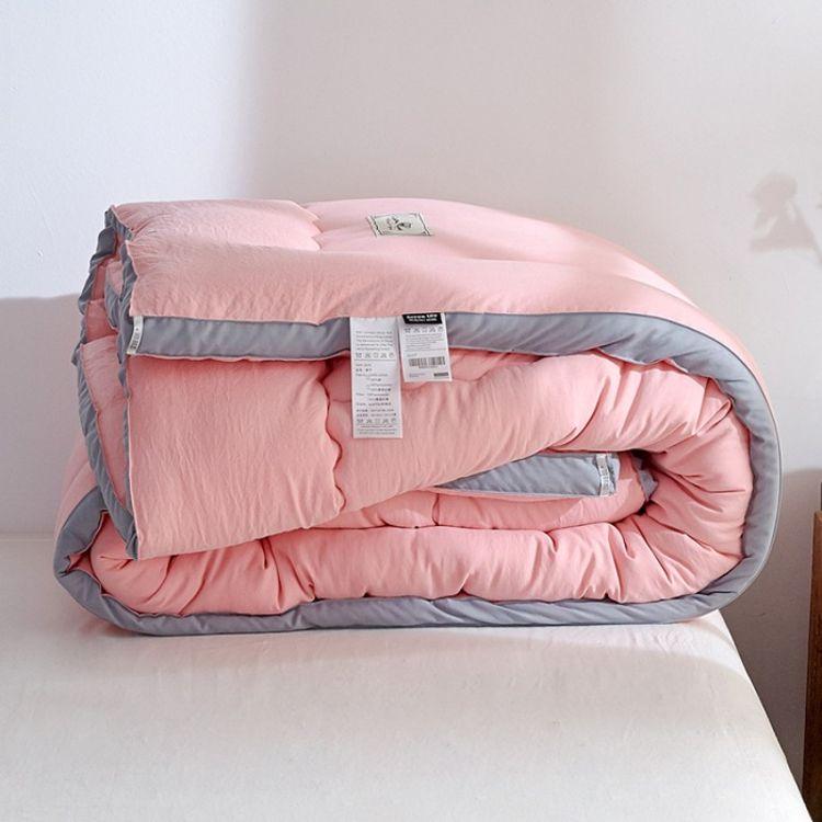 日式水洗棉被子冬被立体加厚保暖春秋被棉被芯水洗棉双人单人被芯
