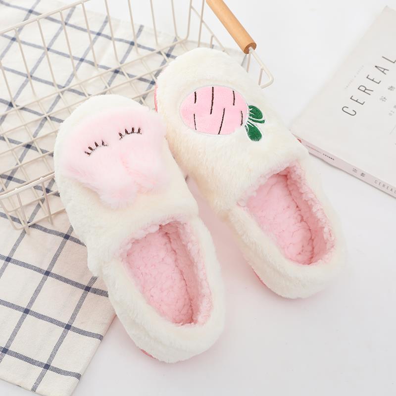 月子鞋批发冬季卡通萝卜兔子孕妇鞋加绒保暖厚底大码防水防滑拖鞋