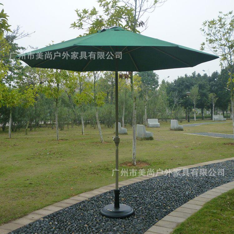 铝合金单层太阳伞 防水色牢度强粘合力强手摇中柱伞
