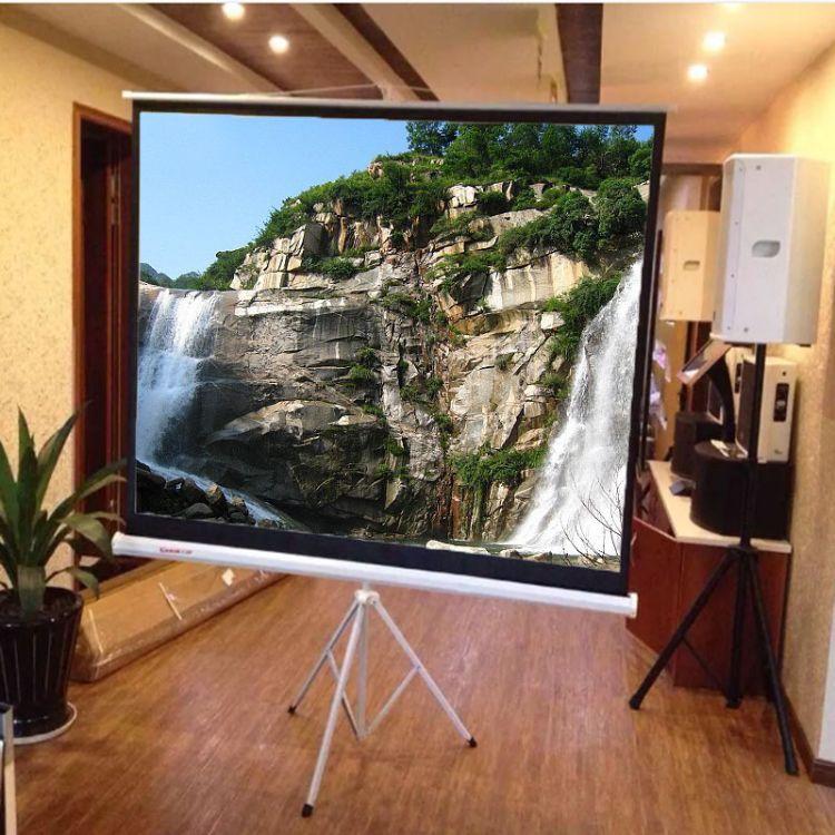 120寸4-3支架玻纤白投影幕高清幕 支架幕布 支架投影幕布