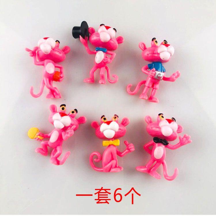 粉红豹蛋糕烘焙摆件 情景烘焙蛋糕装饰公仔 粉红豹蛋糕摆件玩具