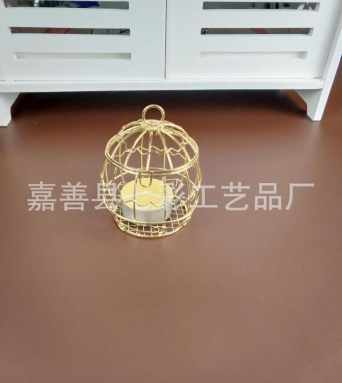 金色烛台金色鸟笼烛台金色镂空烛台金色欧式烛台金色唯美浪漫烛台
