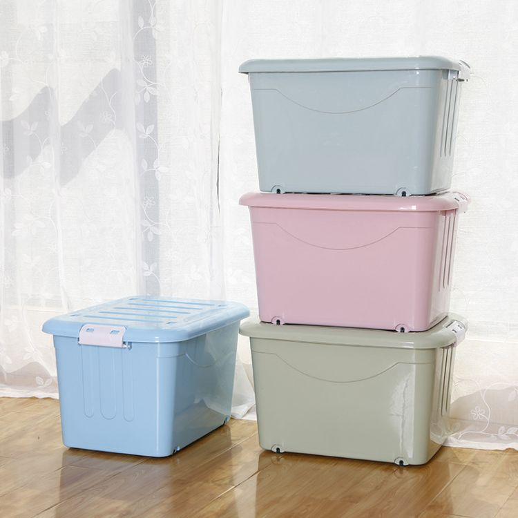 厂家 优质环保收纳箱 透明收纳箱 整理箱 加厚整理箱 logo赠品箱