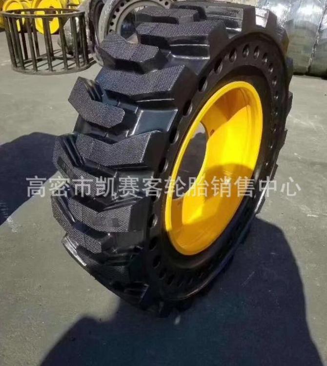 厂家直销小装载机轮胎20.570-16实心轮胎含钢圈 50铃桥小边轮桥