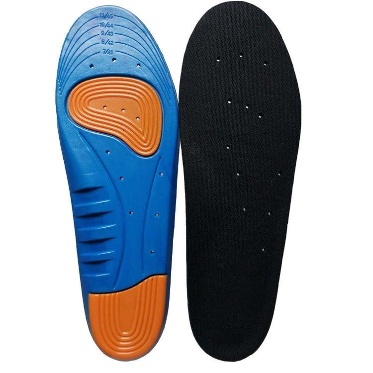 硅胶弹力减震蓝球运动鞋垫PU透气除臭户外登山保护可裁剪吸汗鞋垫