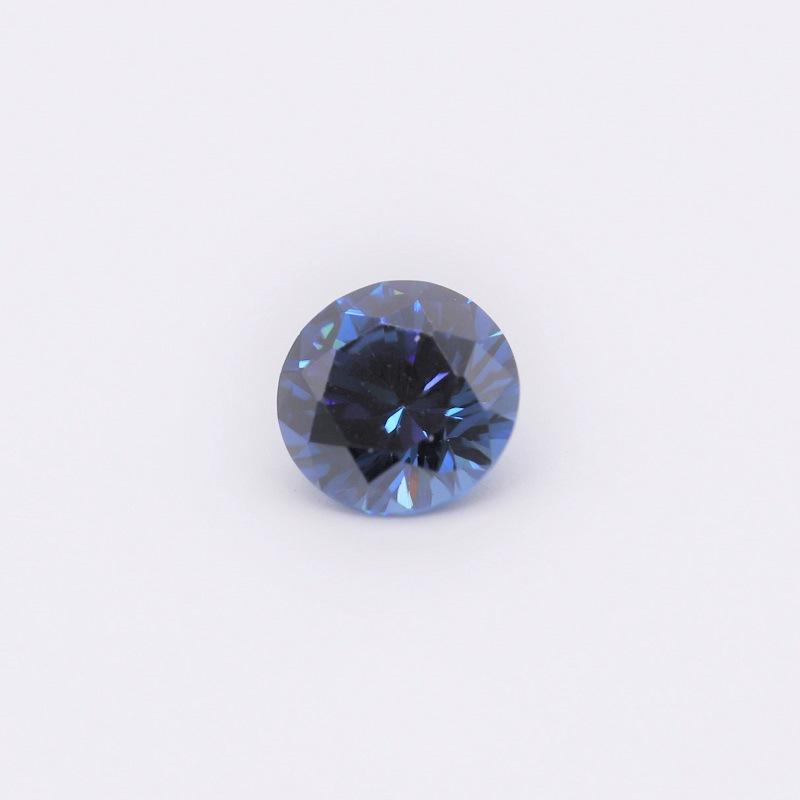 梧州宝石锆石裸石 AAA圆形彩色锆石人造宝石水晶锆石锆石裸石