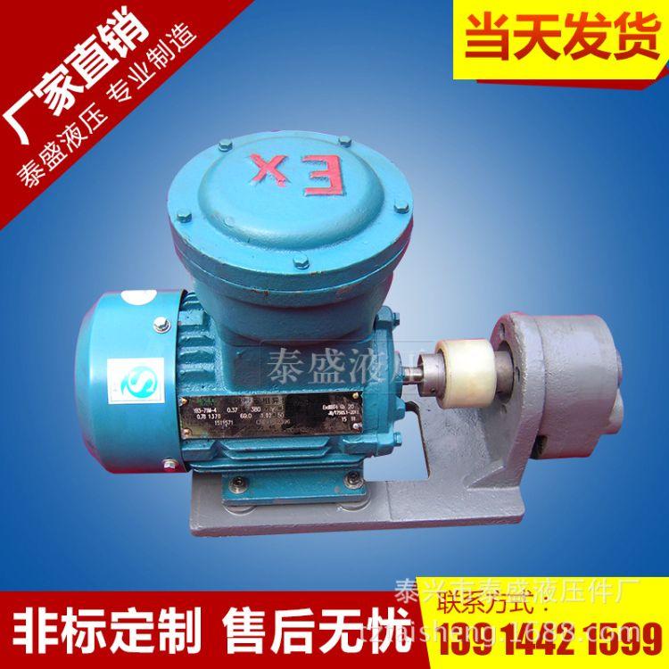 厂家热销WBZ-B16FB齿轮油泵防爆电机组 电动油泵液压管道泵