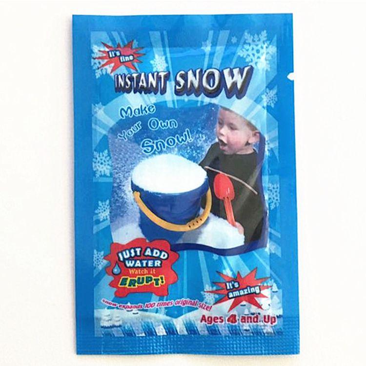 人造雪粉圣诞节橱窗场景装饰人造膨胀雪花加水变雪花仿真人工假雪