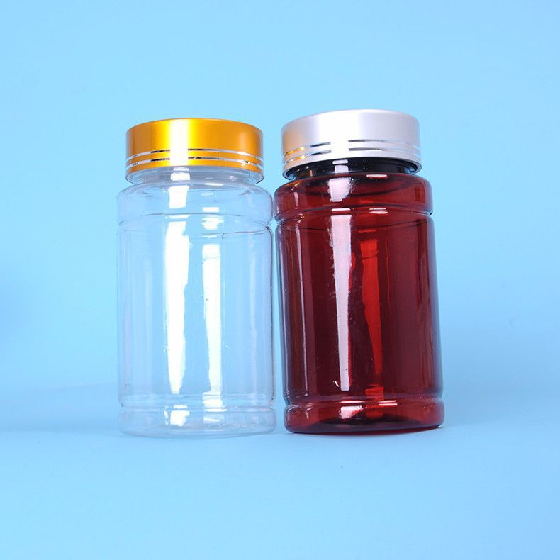 pet透明塑料瓶大口广口保健品瓶胶囊瓶固体瓶子片剂竹节瓶
