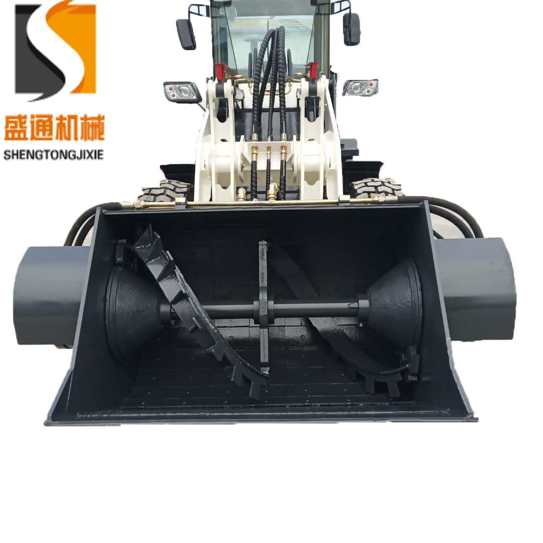 北京建筑工地路面维修专用设备 混凝土上料推铲均匀效搅拌装载机