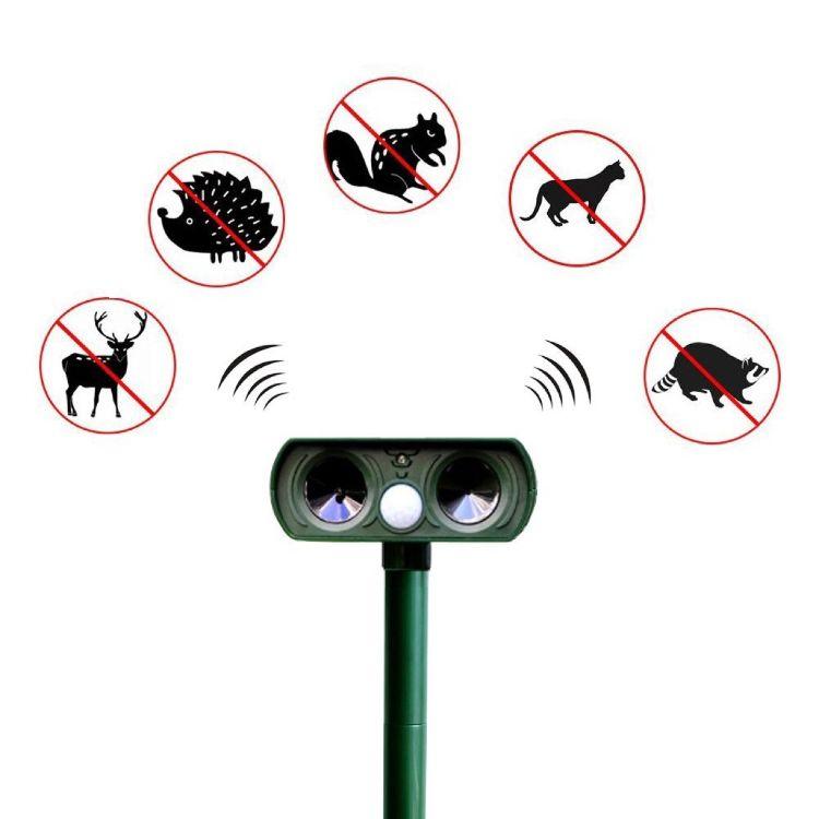 太阳能超声波动物驱赶器驱鼠器驱鸟器驱野猪浣熊兔子松鼠户外驱赶