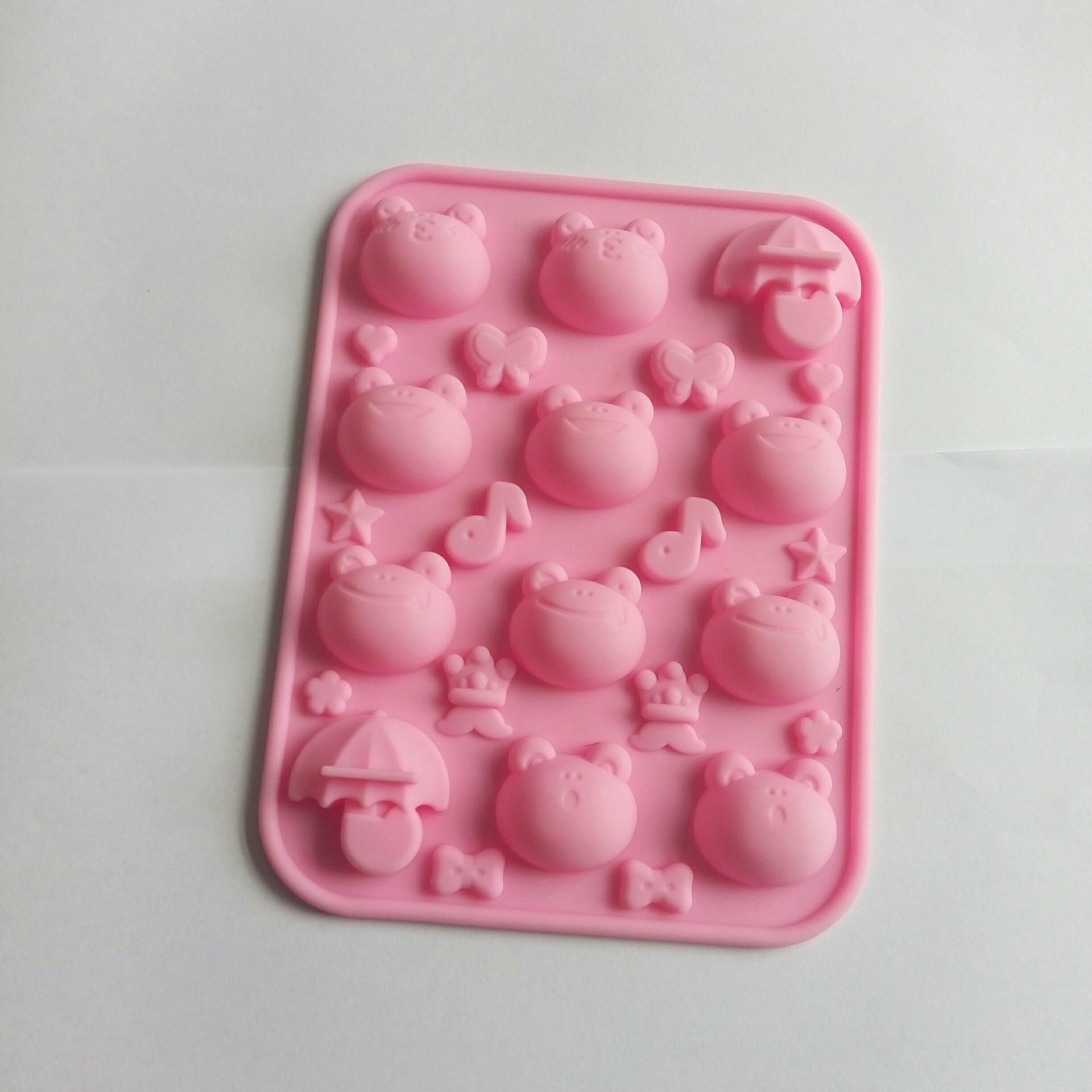 多表情大眼蛙硅胶巧克力模具 卡通可爱眼镜硅胶手工皂模具DIY模具