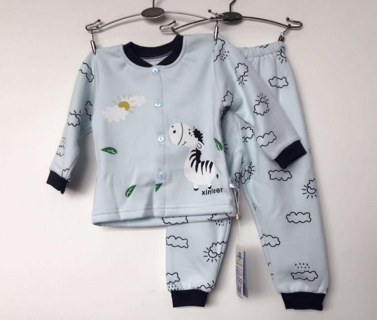 20105婴幼儿童加绒家居服套装 品牌加绒儿童装家居服套装