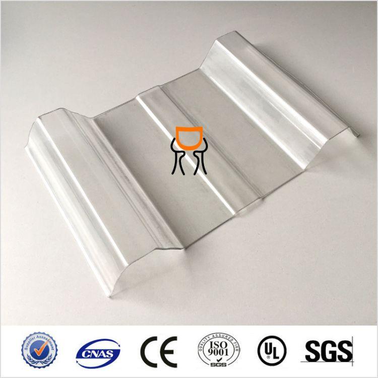 遮阳雨棚板防盗窗挡雨波浪板 PC耐力板草绿色阳光板茶色PC洁光板