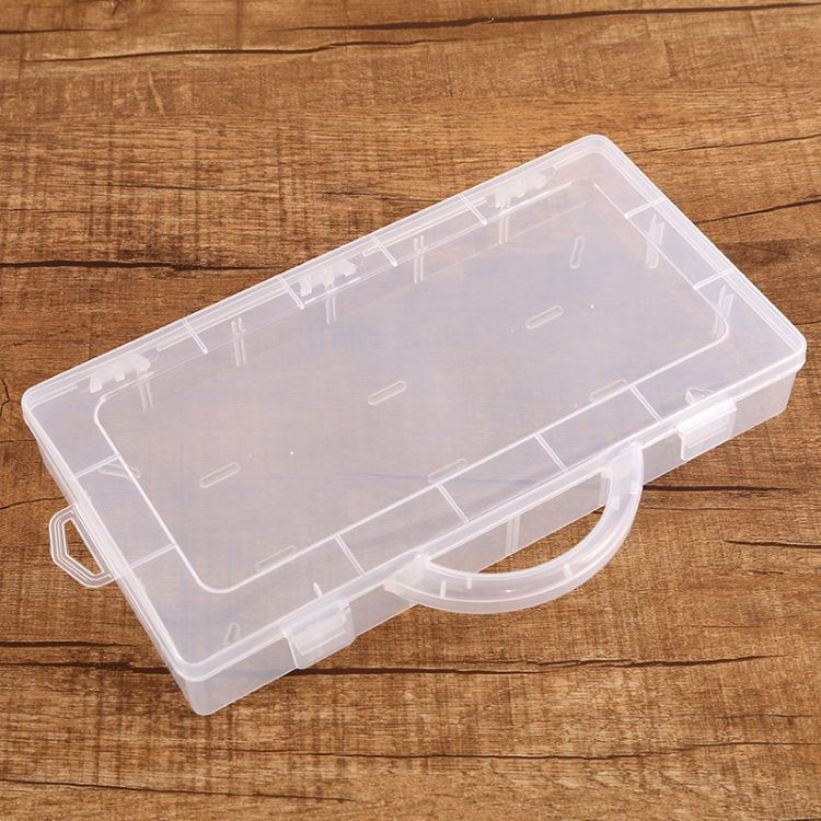 手提無插片空盒收納盒五金配件電子元器件串珠漁具歸納存儲盒
