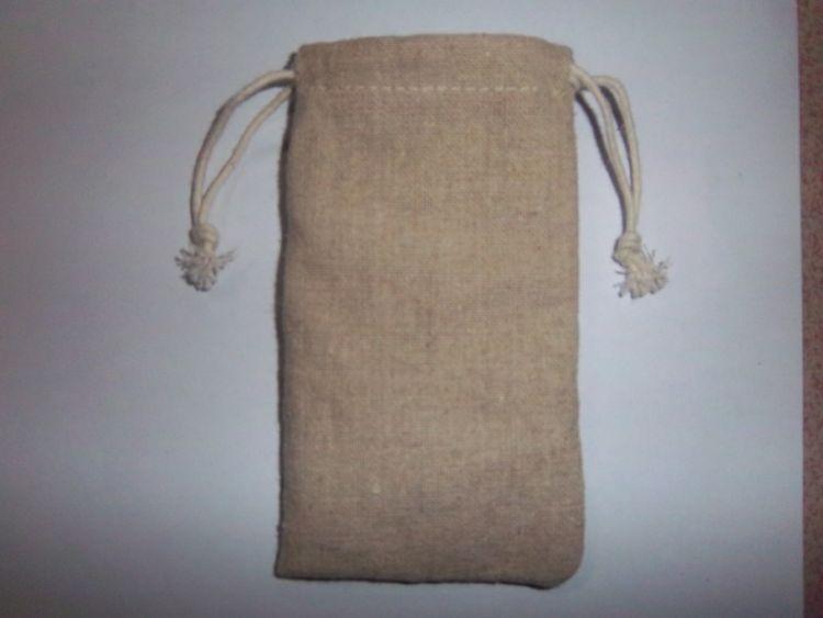 厂家批发拉绳小麻布袋 束口小麻布袋  礼品赠品电子产品束口包装