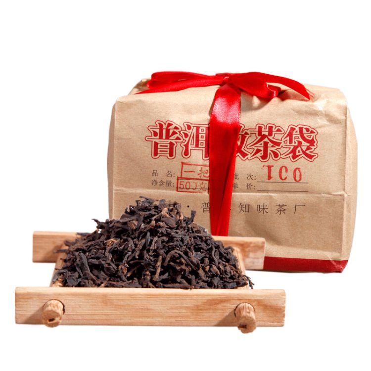 云南普洱 茶 熟茶 2006年原料  一把抓500g陈年普洱 散茶批发