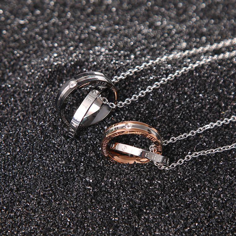 戒指項鏈鈦鋼吊墜個性潮男飾品情侶配飾首飾禮物掛飾霸氣時尚百搭