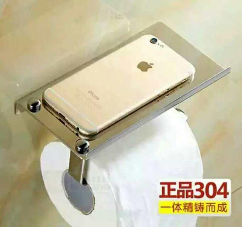 卫浴置物架壁挂 浴室不锈钢手机架 纸巾架 卫生间五金挂件 批发