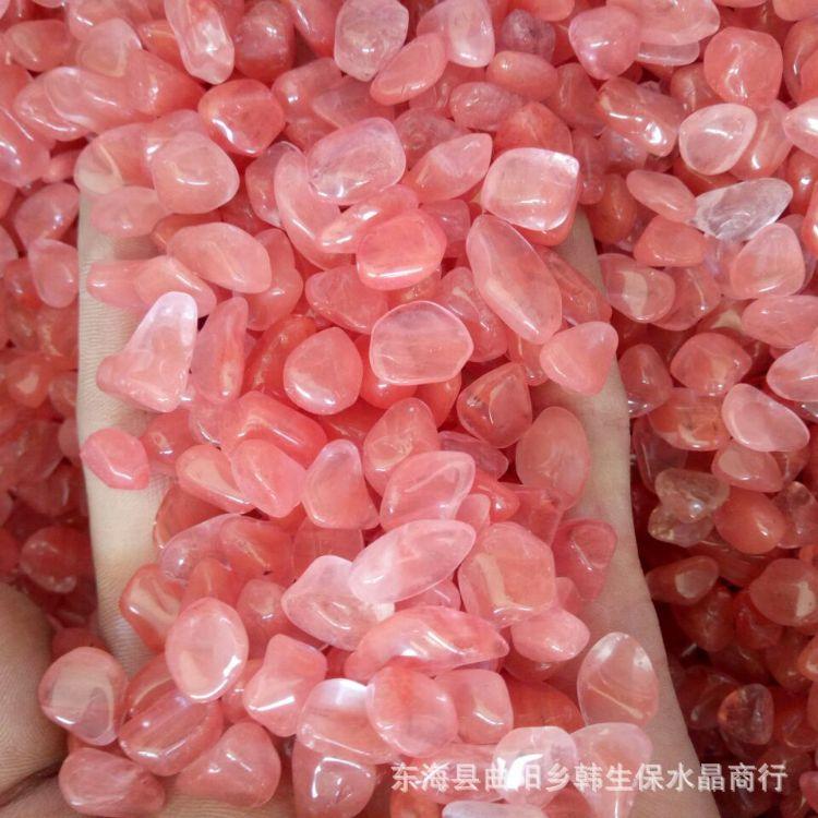 红熔炼石碎石 西瓜晶碎石 水晶装饰 鱼缸花盆装饰厂家直销1000g