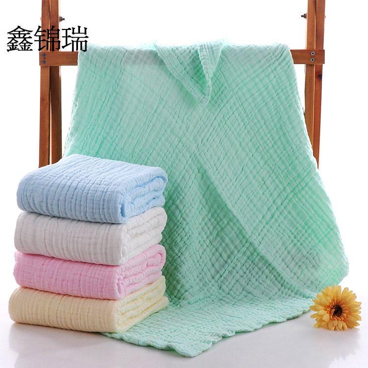 六层水洗纱布被儿童盖毯 A类检测 婴儿秋冬款泡泡纱加厚童被浴巾