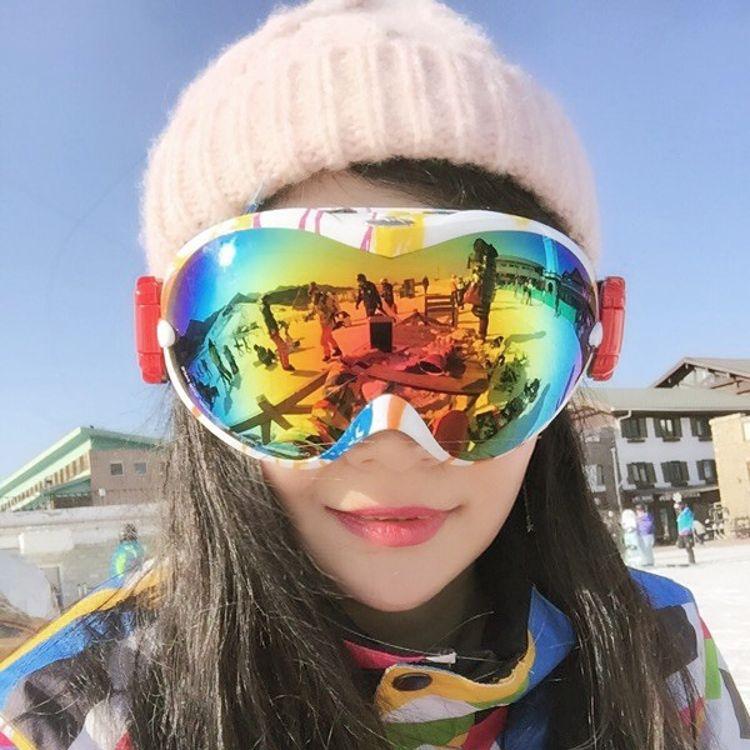 NICEFACE成人双层防雾滑雪镜单双板滑雪眼镜防风保暖户外登山雪镜