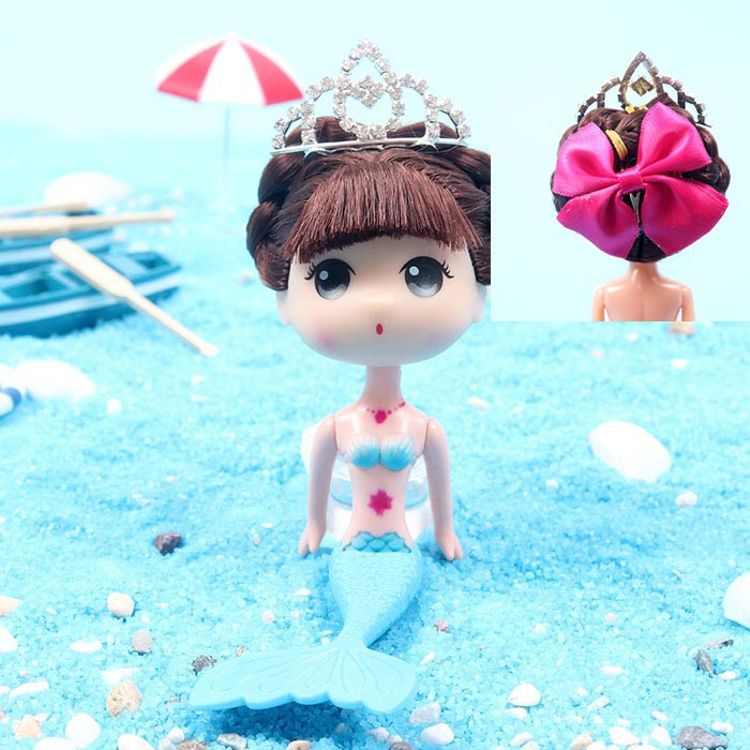 海景美人鱼迷糊娃娃裸娃16厘米8寸玩偶娃娃 真水钻皇冠档次