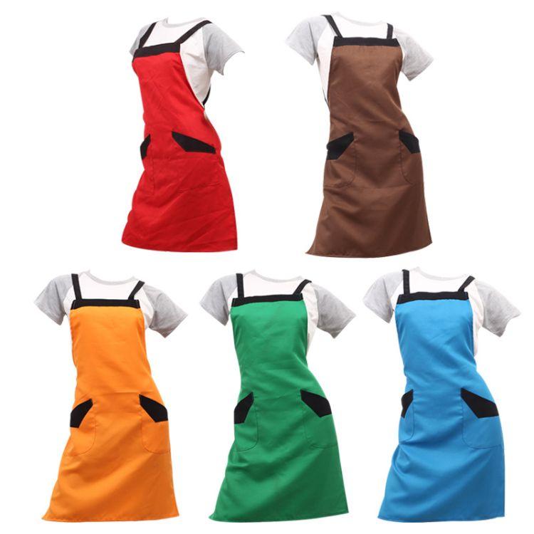 厂家批发定做 广告 销售 咖啡酒店 餐厅服务员围裙订做 LOGO定制