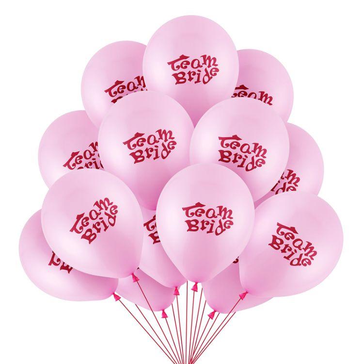 Team bride 粉色节庆 装饰派对婚庆派对装饰球 准新娘场地布置