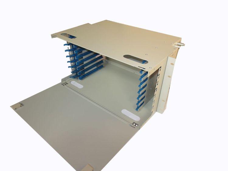 欣联96芯模块式FC/LC/ST/SC型光纤配线架 高度6U 不含适配器 尾纤