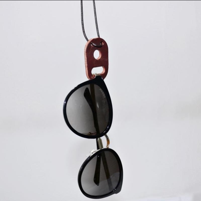 纯牛皮太阳镜眼镜墨镜挂件项链 皮绳挂坠配饰