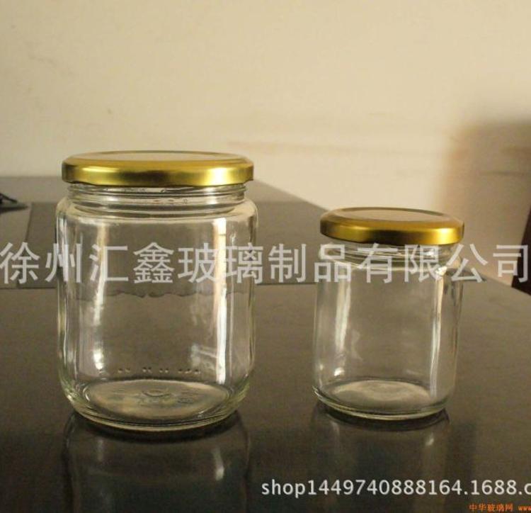批发350ml玻璃瓶六角玻璃瓶 酱菜瓶 蜂蜜瓶 罐头瓶 果酱瓶 燕窝瓶