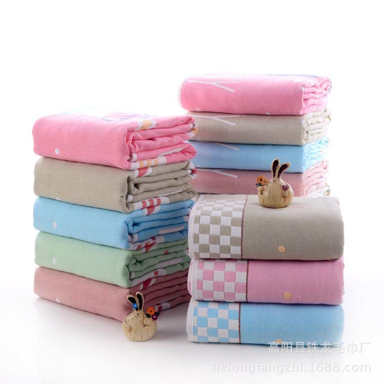 六层纱布童被 浴巾婴儿纯棉婴童毛巾被盖毯儿童宝宝夏凉被 厂家
