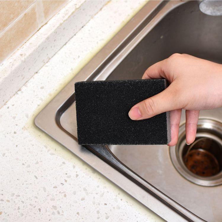 洗碗海绵擦 金刚砂厨房海绵百洁布海绵擦 四面炫彩纳米海绵擦