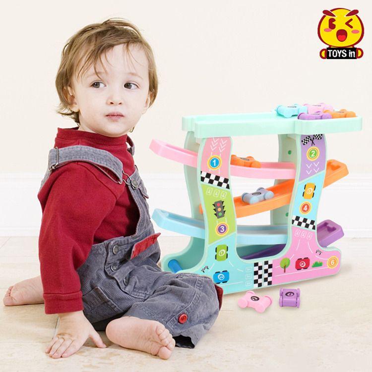 滑翔车1-2-3周岁儿童益智轨道滑翔车男孩惯性小汽车抖音玩具车