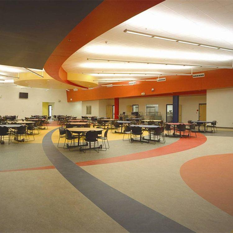 PVC弹性地板塑胶地板0.7mm耐磨层超耐磨抗菌医院专用卷材美宝系列