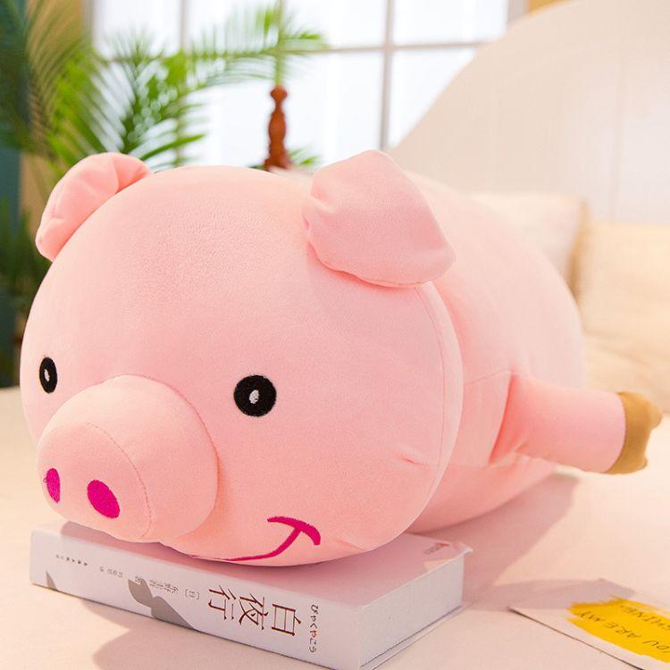 厂家直销 卡通趴款猪公仔可爱超萌卡通小猪玩偶毛绒玩具猪抱枕