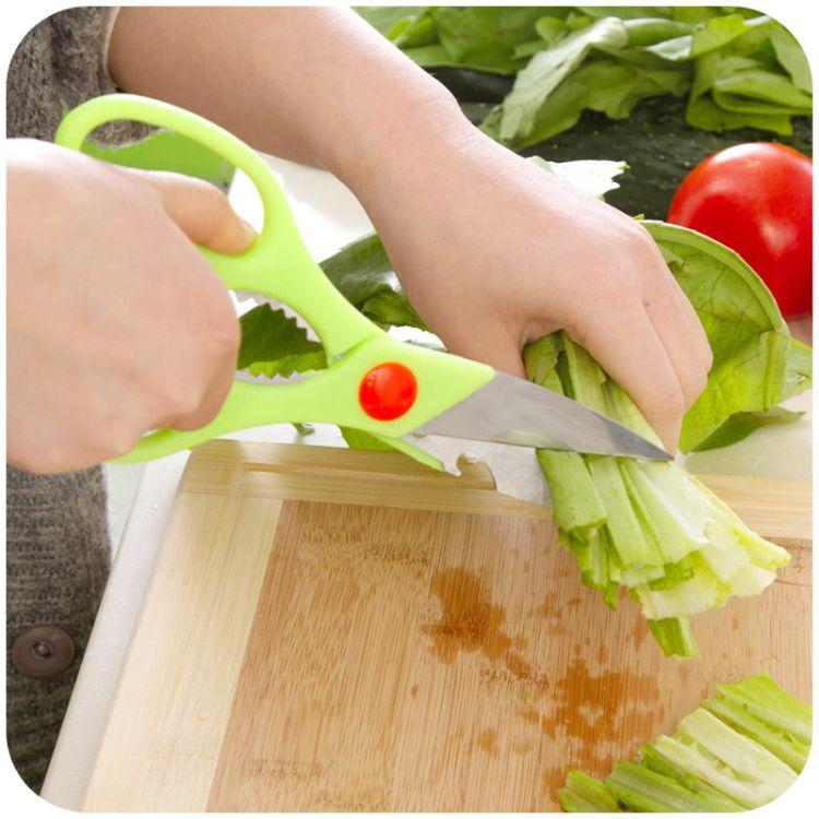 厂家直销 多功能厨房剪刀家用小剪刀 加厚不锈钢鸡骨剪刀