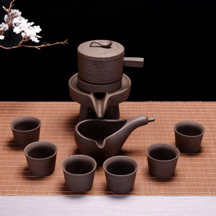 时来运转懒人紫砂半全自动茶具套装功夫茶具整套高档礼盒批发