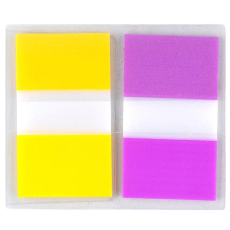 680-2pk-3 报事贴透明指示标签 20片2色装黄+紫