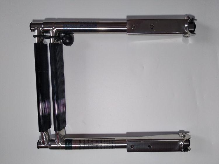 二节伸缩梯不锈钢梯子船游艇用梯子